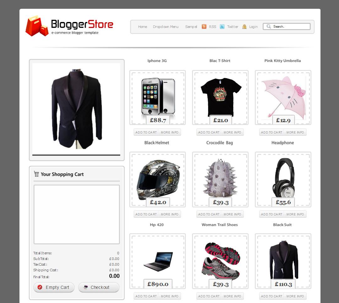 cara membuat toko online gratis dengan blogspot